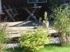 Plantering framför nya trädäcket