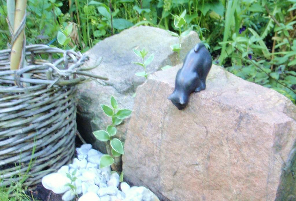 Bronskatt på stenen